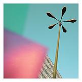 Colors & shapes, Skyscraper, Street lamp