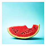 Watermelon, Bite, Melon slice