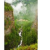 Canyon, Wells gray provincial park, Spahats creek falls