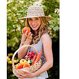 Woman, Harvest, Gardening