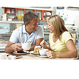 Couple, Cafe, Coffee time