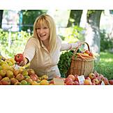 Young woman, Shopping, Fruit shopping