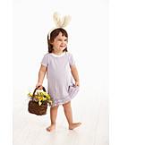 Girl, Easter, Easter Basket