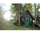 Garden, Cabin, Wooden house