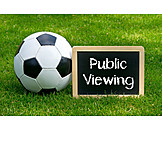 Soccer, Blackboard, Public viewing