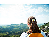 View, Destination, Saxon switzerland, Hiker