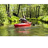 Man, Paddling, Spree river, Kayak