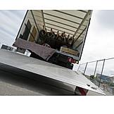 Truck, Loading dock, Delivery, Hatchback
