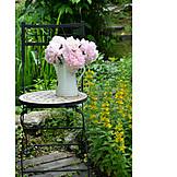 Garden chair, Peony, Garden decoration