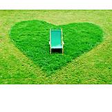 Meadow, Heart, Deck chair