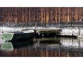 Boat, Rowboat, Boathouse