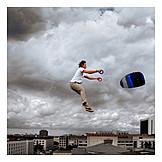 Flying, Kite, Take off, Boost