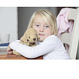 Girl, Embracing, Soft toy