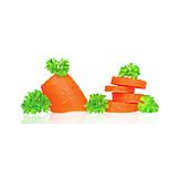 Carrot, Sliced, Carrot slice