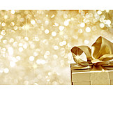 Golden, Glitter, Christmas present
