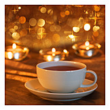 Comfortable, Tea cup, Candlelight