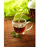 Tea, Teapot, Pouring