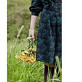 Woman, Bouquet