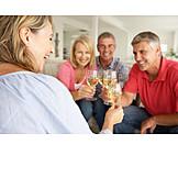 Friendship, Wine glass, Friends, Toast