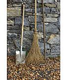 Broom, Broom sticks, Spade, Gardening equipment