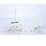 Solitude & Loneliness, Winter, Sailboat