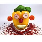 Vegetable, Vegetable face
