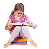 Child, Girl, Reading