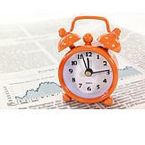 Stock exchange, Alarm clock, Stock price, Business schedule