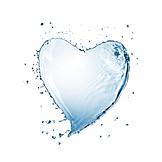 Water, Heart shaped, Water splashes