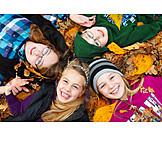 Autumn leaves, Autumn, Children