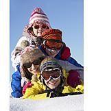 Child, Winter, Siblings