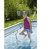Child, Girl, Health, Wading, Kneipp
