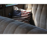 Usa, Cushion, Stars and stripes, Baby car seat