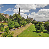 Edinburgh, Princes street gardens