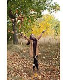 Young Woman, Autumn, Vitality, Walk