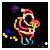 Christmas, Santa Clause, Christmas Lights