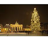 Christmas, Berlin, Brandenburg Gate, Christmas Tree