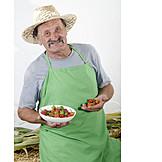 Agriculture, Harvest, Farmer, Cherry Pepper