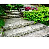 Staircase, Front garden, Level