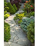 Garden, Front garden, House entrance, Garden decoration