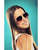 Young woman, Sunglasses