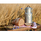 Agriculture, Snack, Bread, Milk canister