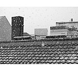 Winter, House Roof