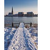 Winter, Pier, Rostock