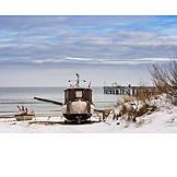 Fishing boat, Winterly, Koserow