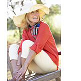 Woman, Relaxation & Recreation, Summer, Relaxed