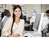 Young woman, Office & workplace, Agency, Workplace