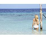 Woman, Holiday & Travel, Sea