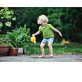 Child, Garden, Playing