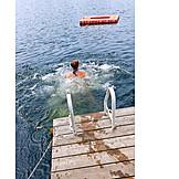 Lake, Summer, Bathing, Lake